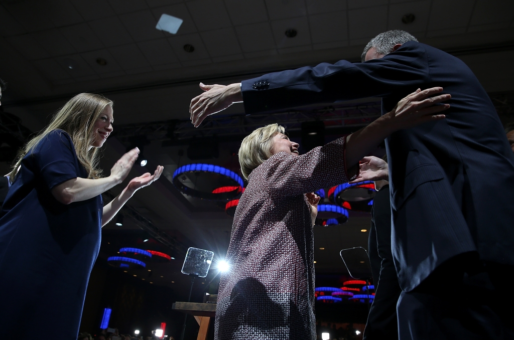 Hillary Clinton Holds New York Primary Night Gathering In Manhattan