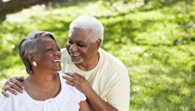 Portrait of senior African American couple