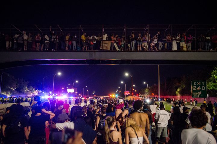 Activists Hold March Protesting Police Shooting Of Philando Castile