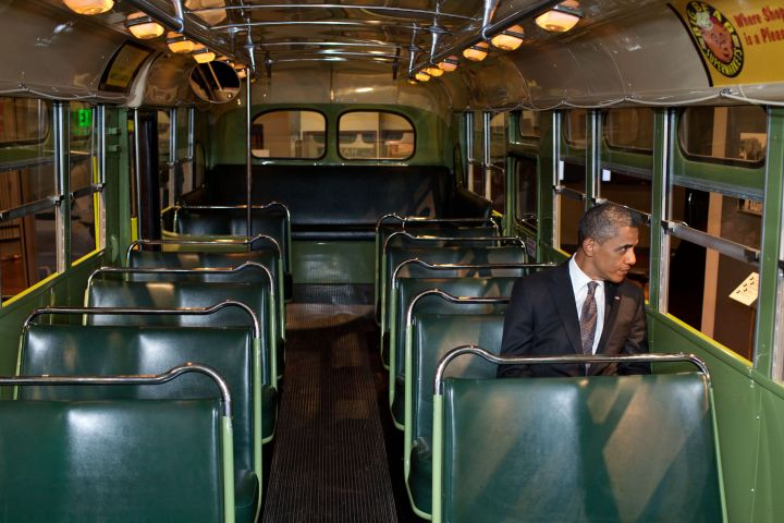 President Obama on the Bus