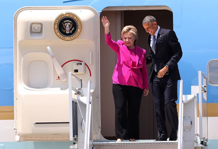 President Obama Campaigns With Hillary Clinton In Charlotte