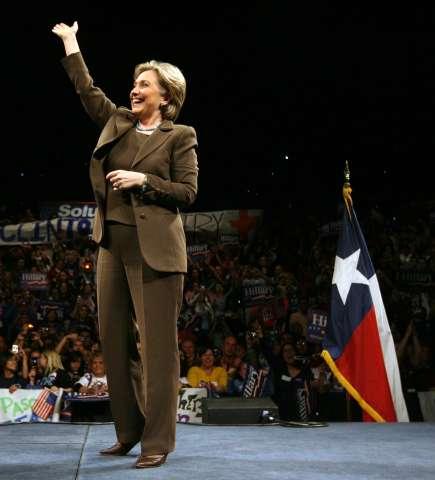 Hillary Clinton Attends Campaign Rally In El Paso