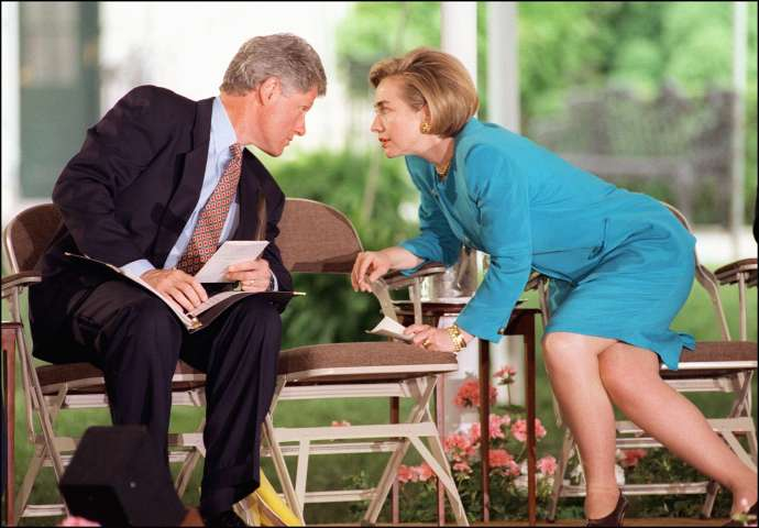 US First Lady Hillary Clinton in a picture taken 2