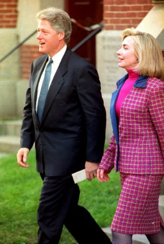 U.S. President-elect Bill Clinton and Mrs. Clinton