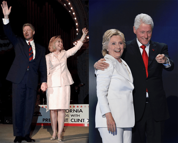 Hillary and Bill Clinton Then and Now