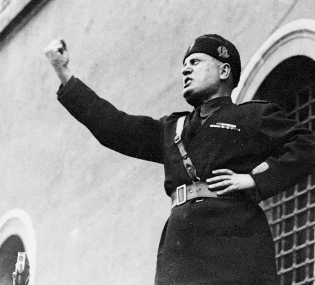 Benito Mussolini.