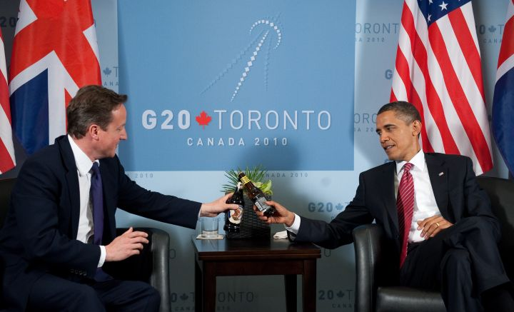 US President Barack Obama and British Pr