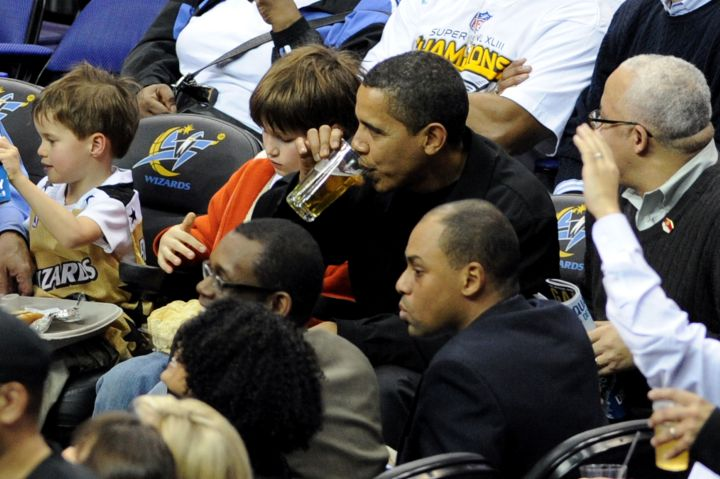President Obama Attends NBA Game