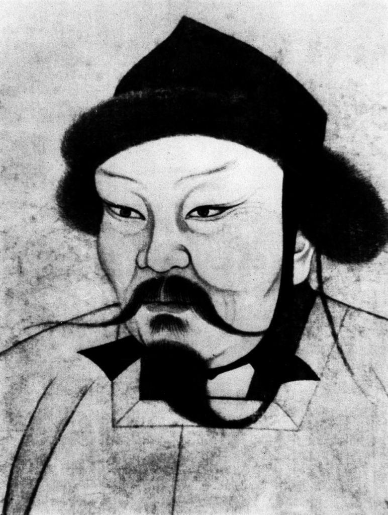 Ogedai Khan Ogedai (Ugedai / Ogotai) ca. 1185-11.12.1241+ Mongol ruler, Great Khan since 1229 son of Genghis Khan Chinese portrait drawing - 14th century