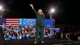 Democratic Presidential Candidate Hillary Clinton Campaigns In Las Vegas, Nevada