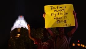 Protesters demonstrate against police in Charlotte, Carolina