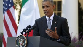 President Obama Holds News Conference With Italian Prime Minister Matteo Renzi