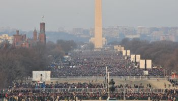 INAUGURATION 2009; Crowds gather on the National Mall in Was