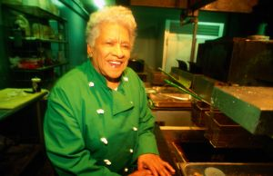 Long standing and respected chef at Dooky Chase's restaurant in New Orleans, Leah Chase.