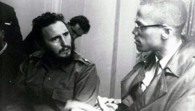 Fidel Castro and Malcolm X.