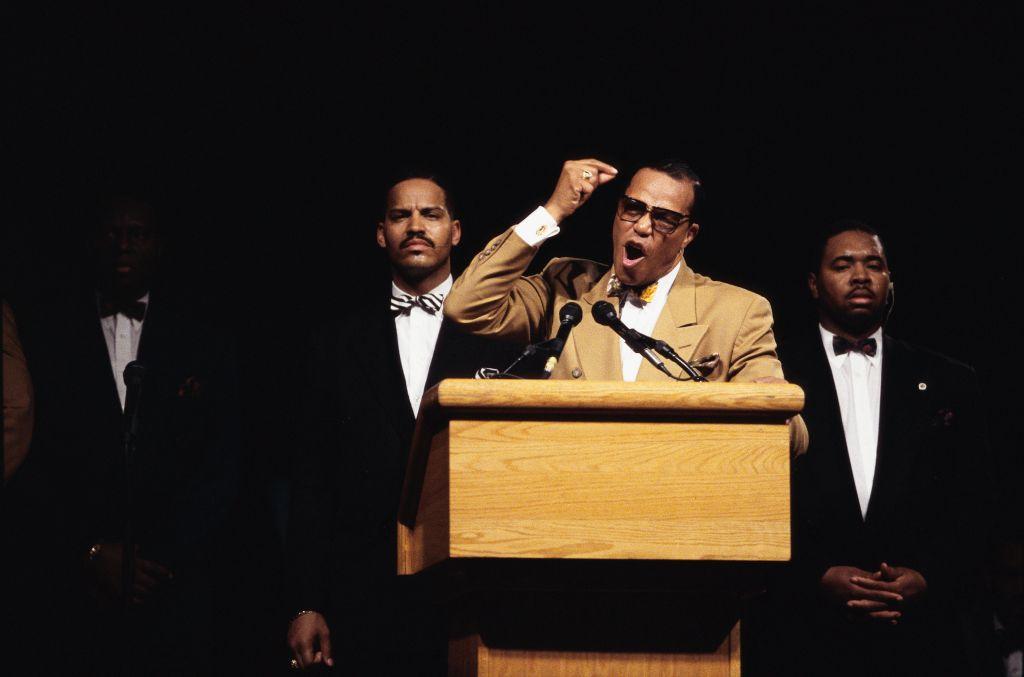 Louis Farrakhan Speaking at Rally