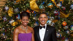 Formal White House Christmas Tree Portrait