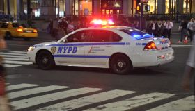 police car on a emergency call