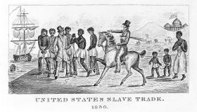 Engraving Depicting the United States Slave Trade 1830