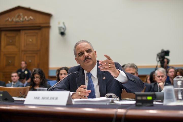 Holder testifies on Cap Hill