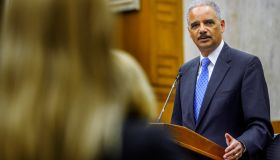 Forner Attorney General Eric Holder delivers a speech at the 7th annual Judge Thomas Flannery Lecture on the Administration of Justice at U. S. District court in Washington, DC.