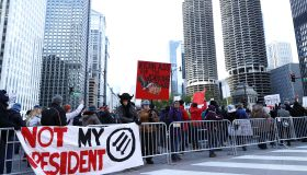 Anti-Trump Protest in Chicago