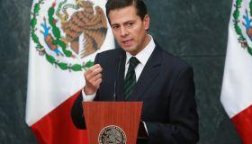 Mexican President Enrique Pena Nieto - Press conference