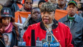 The mother of Eric Garner, Gwen Carr sharing words of...