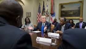 President Trump Holds Meeting Honoring Black History Month