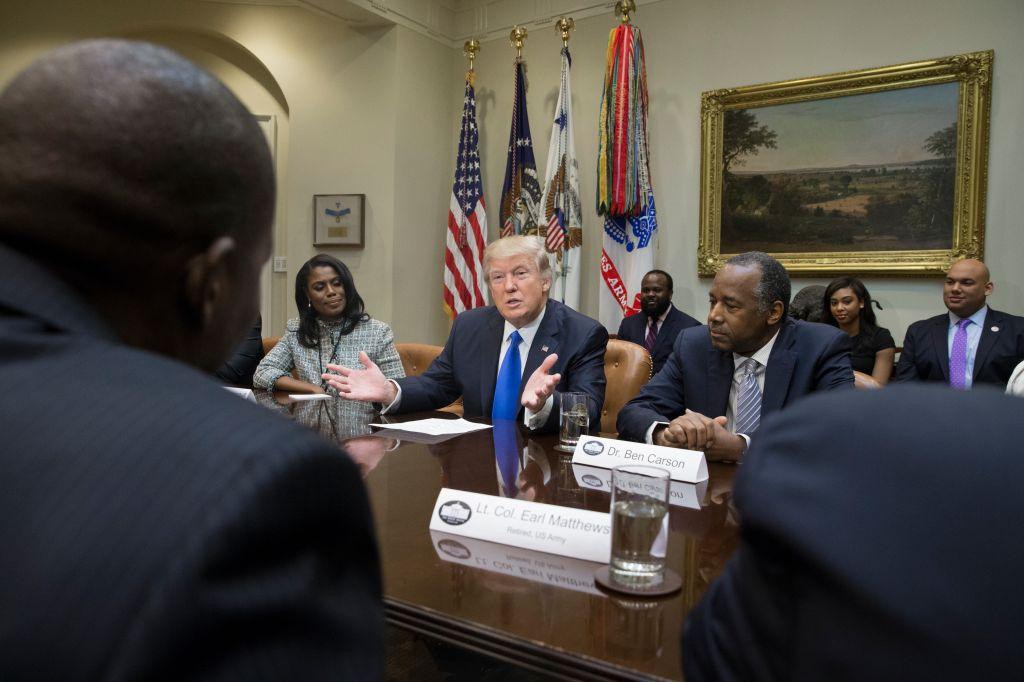 President Trump Holds Meeting Honoring Black History Month