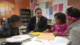 U.S. Secretary Of Education John B. King Jr. School Visit