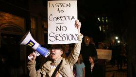 Protestors Read Coretta Scott King Letter Outside Mitch McConnell's Home