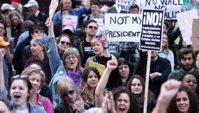Protestors Hold 'Not My President's Day' Rally At Trump Tower In Chicago
