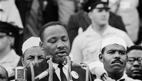 Martin Luther King Jr. Delivering \'I Have a Dream\' Speech