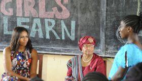 LIBERIA-USA-MICHELLE-OBAMA-DIPLOMACY-EDUCATION
