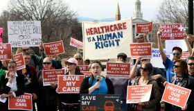 Healthcare rally at the State Capitol in Denver, Colorado.