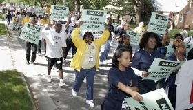 NAACP President Bruce Gordon Leads Affirmative Action Rally