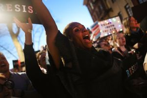 Protestors Rally At Stonewall Inn Against Withdrawal Of Transgender Protections