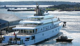 David Geffen's yacht Rising Sun came into Portland on Tuesday morning, September 24, 2013.