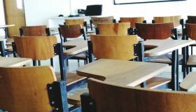 Wooden Chairs In Classroom