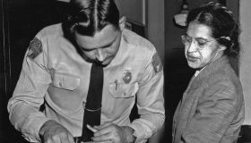 Rosa Parks is fingerprinted by police Lt. D.H. Lackey in Montgomery.