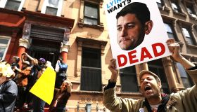 Activists Protest Paul Ryan During Visit To Harlem Success Academy In NYC