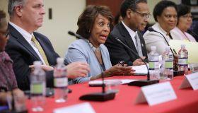 Democrats Representatives Hold News Conference On Program Cut In Trump's Budget