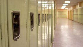 Lockers in an empty corridor