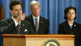 Assistant U.S. Attorney General Christopher Wray announces indictment