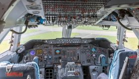 Commercial airplane cockpit