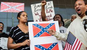 Confederate Flag Burn