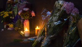 Grenfell Neighbours Gather For Night Vigil Near Scene Of Tower Fire Disaster