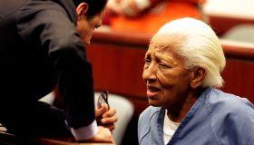 Doris Marie Payne, 83, right, talks her attorneys Gretchen Christina von Helms and Guadalupe Valenc