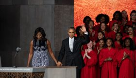 The Obamas At NMAAHC Opening